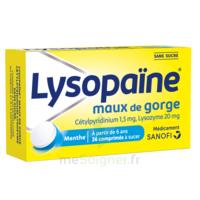 LysopaÏne Comprimés à Sucer Maux De Gorge Sans Sucre 2t/18 à  JOUÉ-LÈS-TOURS