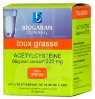 ACETYLCYSTEINE BIOGARAN CONSEIL 200 mg Pdr sol buv en sachet B/20 à  JOUÉ-LÈS-TOURS