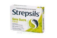 STREPSILS CITRON SANS SUCRE, pastille édulcorée à l'isomalt, au maltitol et à la saccharine sodique à  JOUÉ-LÈS-TOURS