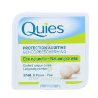 QUIES PROTECTION AUDITIVE CIRE NATURELLE 8 PAIRES à  JOUÉ-LÈS-TOURS