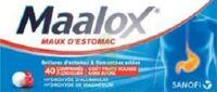 MAALOX MAUX D'ESTOMAC HYDROXYDE D'ALUMINIUM/HYDROXYDE DE MAGNESIUM 400 mg/400 mg SANS SUCRE FRUITS ROUGES, comprimé à croquer édulcoré à la saccharine sodique, au sorbitol et au maltitol à  JOUÉ-LÈS-TOURS