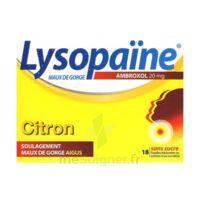 LYSOPAÏNE AMBROXOL 20 mg Pastilles maux de gorge sans sucre citron Plq/18 à  JOUÉ-LÈS-TOURS