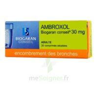 Ambroxol Biogaran Conseil 30 Mg, Comprimé Sécable à  JOUÉ-LÈS-TOURS