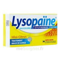 LYSOPAÏNE Comprimés à sucer maux de gorge miel citron sans sucre 2T/18 à  JOUÉ-LÈS-TOURS