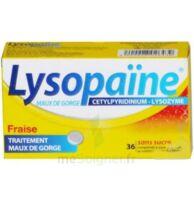 LYSOPAÏNE Comprimés à sucer maux de gorge fraise sans sucre 2T/18 à  JOUÉ-LÈS-TOURS