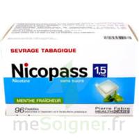 Nicopass 1,5 Mg Pastille Sans Sucre Menthe Fraîcheur Plq/96 à  JOUÉ-LÈS-TOURS