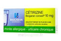 CETIRIZINE BIOGARAN CONSEIL 10 mg, comprimé pelliculé sécable à  JOUÉ-LÈS-TOURS