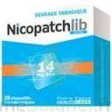 NICOPATCHLIB 14 mg/24 h Dispositifs transdermiques B/28 à  JOUÉ-LÈS-TOURS