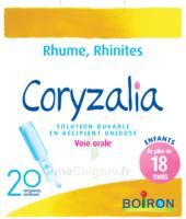 Boiron Coryzalia Solution buvable unidose B/20 à  JOUÉ-LÈS-TOURS